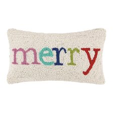 Merry Holiday Hook Wool Throw Pillow