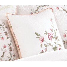 Modern Heirloom Claire Embroidered Decorative Cotton Throw Pillow