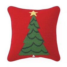 Needlepoint Trim a Tree Wool Throw Pillow
