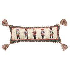 Needlepoint Nutcracker Wool Lumbar Pillow