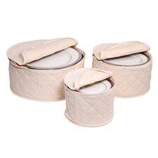 Tabletop Storage 3 Piece Cotton Plate Case Set