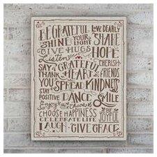 Grateful Montage Textual Art