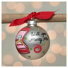 Will You Marry Me? Glass Ball Ornament