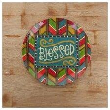 """Blessed 10"""" Melamine Plate"""