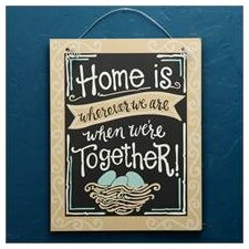 Home Is Wherever We Are Chalkboard Wall Decor