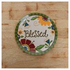 "Blessed Floral 10"" Melamine Plate"