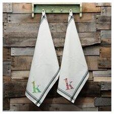 K Initial Tea Towel
