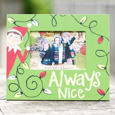 Elf Always Nice Picture Frame