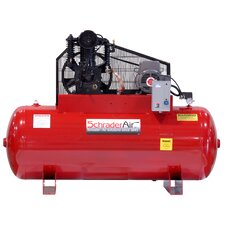 Professional Series Two Stage 5HP 80 Gallon Single Phase Horizontal Air Compressor