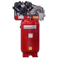 80 Gallon Professional Series 2 Stage 7.5 HP Single Phase Vertical Air Compressor