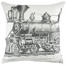 Train Cotton Throw Pillow