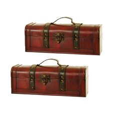 Long Wood Decorative Trunk (Set of 2)