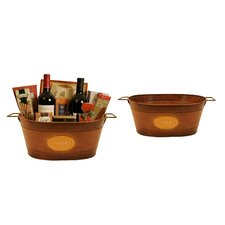 Oval Metal Container (Set of 2)