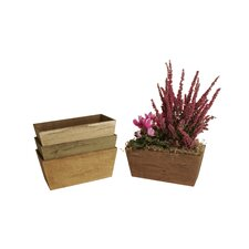 4 Piece Rectangular Rail Planter Set (Set of 4)