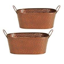 2 Piece Oval Pot Planter Set (Set of 2)