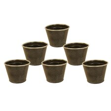 Metal Polka Dot Pot Cover (Set of 6)