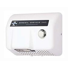 Lexan Push Button Surface Mounted 208 / 230 Volt Hand Dryer in White