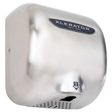 XLERATOR Automatic Surface Mounted 277 Volt Hand Dryer in Brushed Stainless Steel