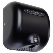 XLERATOR Automatic Surface Mounted 208 Volt Hand Dryer in Raven Black
