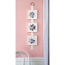 Flower Hanging Wood Baby Picture Frame