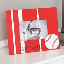 Wooden Baseball Picture Frame