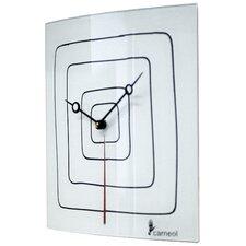 Glass Art Wall Clock