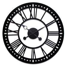 "Oversized 38"" Skeleton Tower Wall Clock"