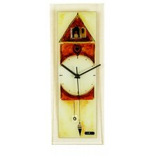 Rectangle Glass Wall Clock with Cuckoo Clock
