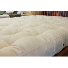 "5"" 100% Organic Cotton and Wool Futon Mattress"