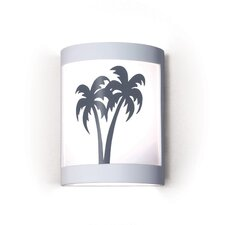 Silhouette Twin Palms 1 Light Wall Sconce