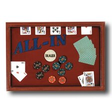 Game Room Hand-Carved 'All In' Sign Wall Décor
