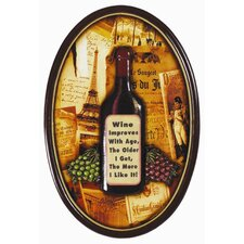 Wine Improves with Age Pub Framed Graphic Art