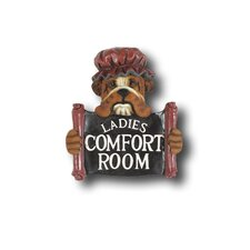 Hand-Carved Ladies Comfort Room Sign