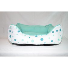 Luxurious Twill Polka Dot Dog Cuddler
