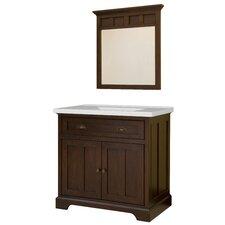 "Somerset 37"" Single Bathroom Vanity Set with Integrated Sink"