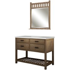 "Toby 49"" Single Bathroom Vanity Set with Integrated Sink"