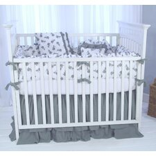 "Elephant Tales ""The Cotton Story"" 4 Piece Crib Bedding Set"