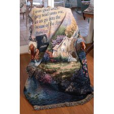 Church in the Country Verse Tapestry Cotton Throw