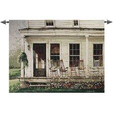 Back Porch Gathering Tapestry