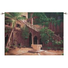 Wishing Well Courtyard Tapestry