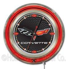 "Corvette - C6 15"" Double Neon Ring Logo Wall Clock"