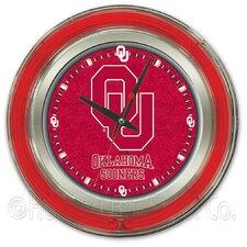 "NCAA 15"" Double Neon Ring Logo Wall Clock"