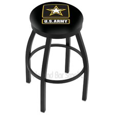 "US Armed Forces 25"" Swivel Bar Stool with Cushion"