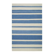 Jagges Blue/Beige Stripe Faded Azul Outdoor Area Rug