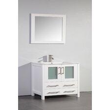 "36"" Single Bathroom Vanity Set with Mirror"