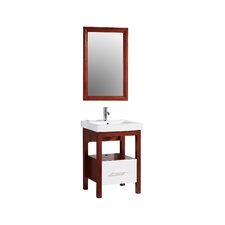 "24"" Single Bathroom Vanity Set with Mirror"
