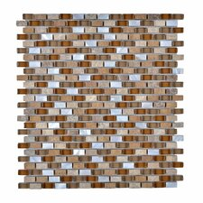 Stone and Glass Mosaic Tile in Brown