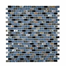 Stone and Glass Mosaic Tile in Blue
