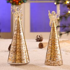 2 Piece Delightful Free Standing Angel Tree Set