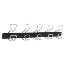 Modern 5 Double Hook Wall Coat Rack